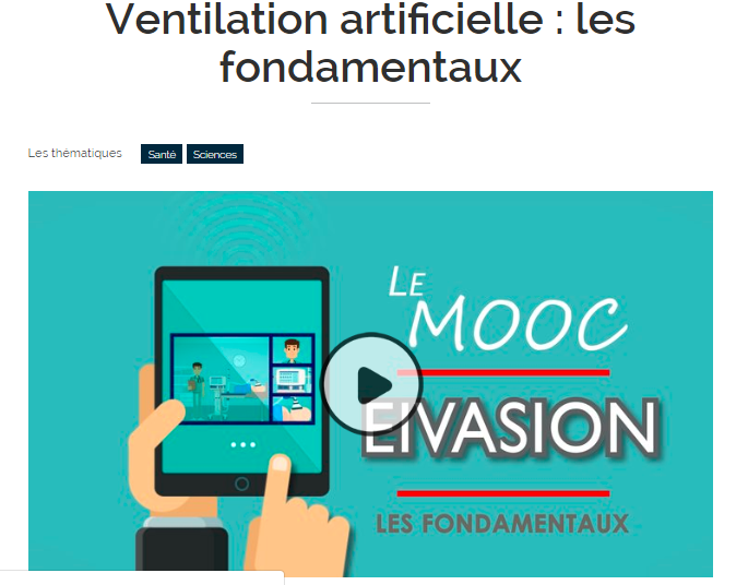MOOC Ventilation. Formation en ligne.